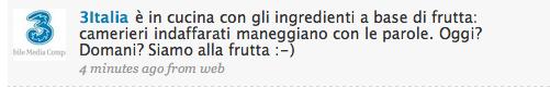 messaggio twitter 3 Italia
