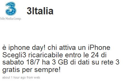 scegli 3 ricaricabile + iphone