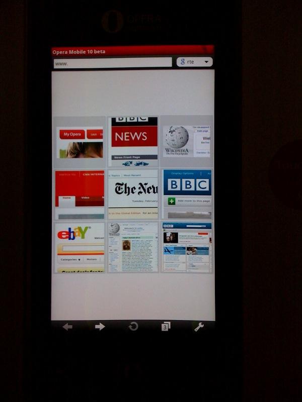 Home page Google-Style su Opera Mini
