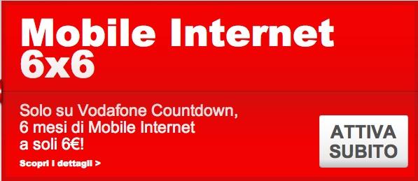 Vodafone Countdown opzione internet