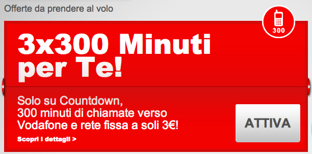 vodafone countdows 3x300 minuti