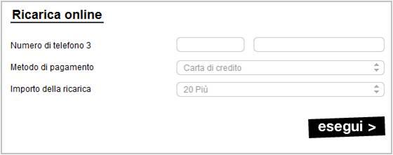 info for dd789 6004e Ricarica Tre online del proprio credito » SosTariffe.it