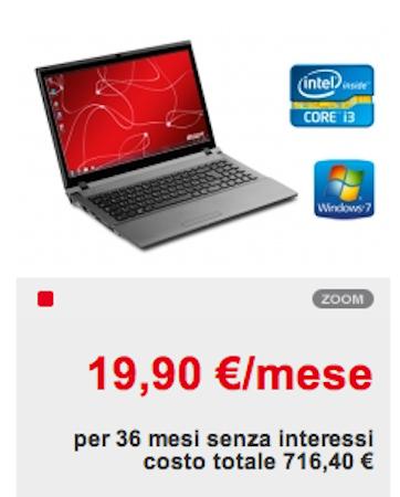 Computer portatile olivetti a 19 90 euro per 3 anni e for Offerta telecom per clienti da piu di 10 anni
