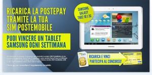 Concorso Postemobile per vincere un Samsung Galaxy Tab 2