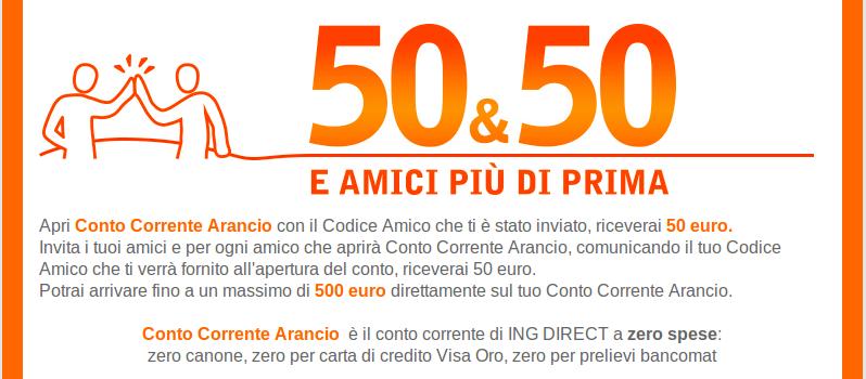Con il conto corrente a zero spese di ING Direct puoi avere 500 euro ...