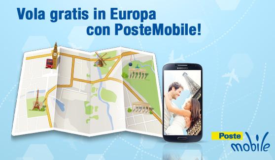 Vola gratis in Europa con PosteMobile