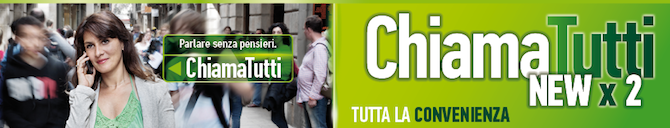 Le opzioni in promozione sono ChiamaTutti New e ChiamaTutti Large New