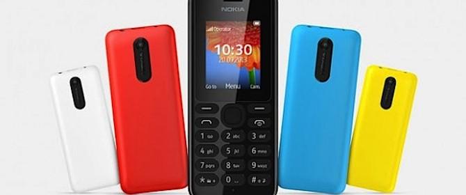 Il prezzo del Nokia 108 non dovrebbe superare i 30 euro
