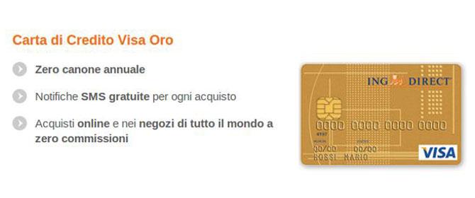 Carta di Credito Visa Oro