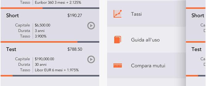 simulare un mutuo o prestito via iPhone o iPad