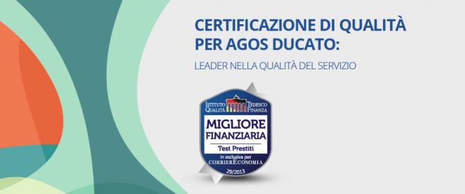 agos ducato migliore finanziaria in Italia