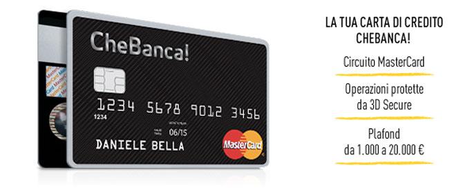 Carta di credito chebanca l eleganza total black for Carta di credito per minorenni