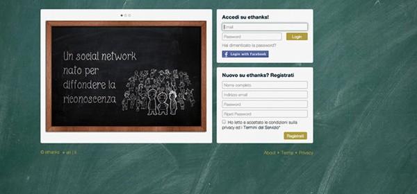 """Ethanks è un nuovo, particolare social network, dedicato a chi vuole """"ringraziare"""""""