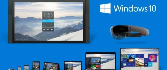 Gli utenti di Windows 7, Windows 8.1 e Windows Phone 8.1 potranno passare a Windows 10 gratuitamente