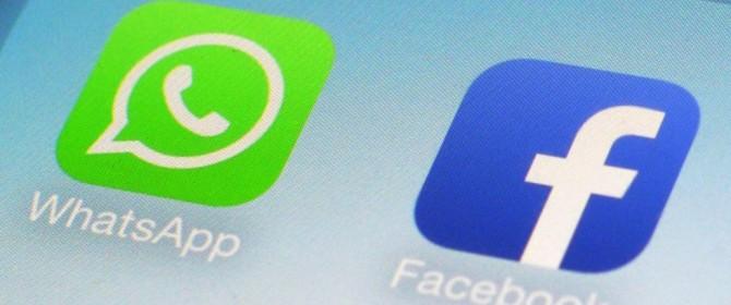 Presto un'unica autenticazione per WhatsApp e Facebook