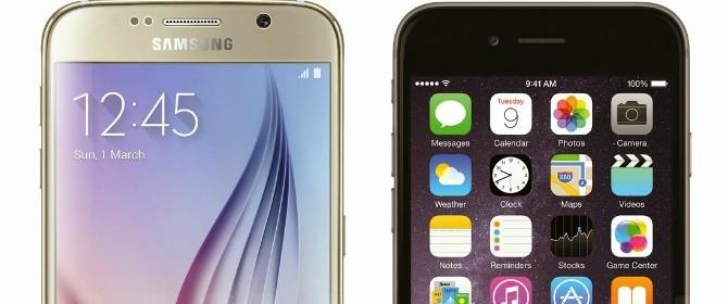 Samsung Galaxy S6 a confronto con Apple iPhone 6