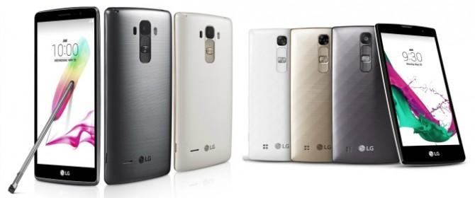 LG G4 Stylus ed LG G4c in rampa di lancio