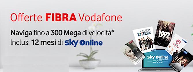 Sky online gratis per 1 anno con Vodafone fibra
