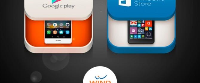 Compra con Wind su Google Play e Windows Phone Store e vinci 4 smartphone al giorno
