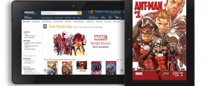 Amazon lancia Kindle Paperwhite e Kindle Voyage e porta su Kindle Store i fumetti Marvel