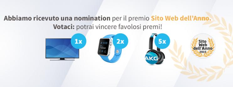 Sito Web dell'Anno vota SosTariffe.it