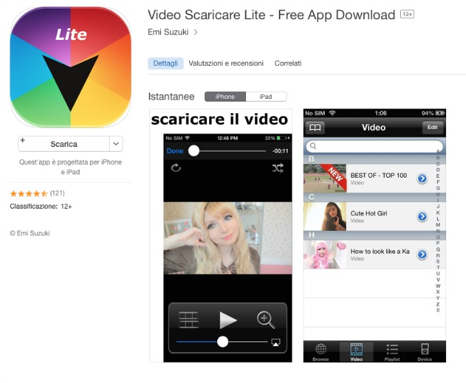 scaricare video di youtube su iphone
