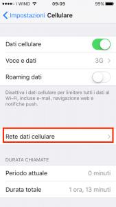 attivare hotspot iphone