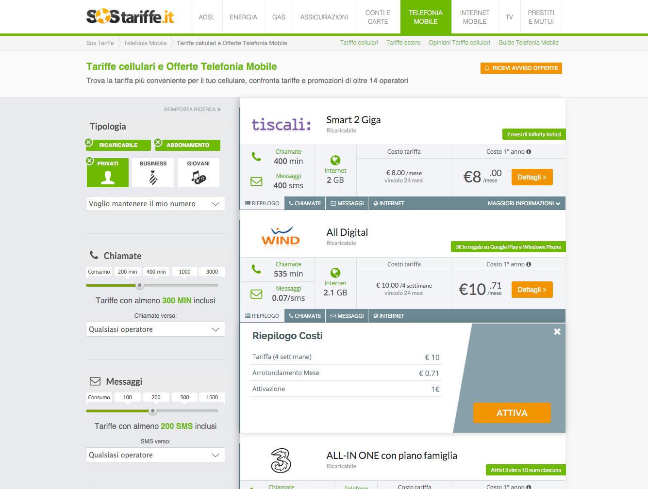 7 marzo Nuovo comparatore Tel.Mobile SosTariffe.it_preview