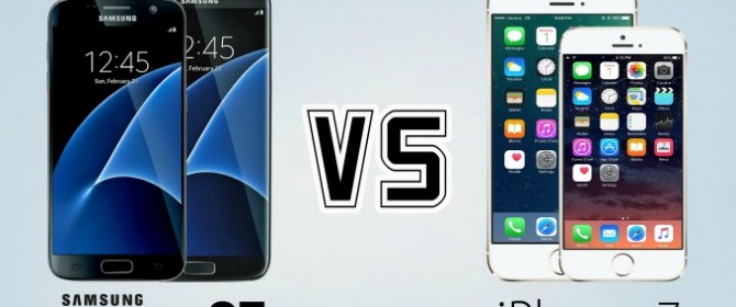 Un confronto (immaginato) tra iPhone 7 e Samsung Galaxy S7