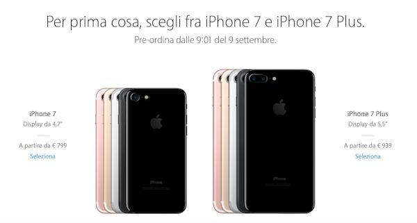 iphone 7s prezzo euronics