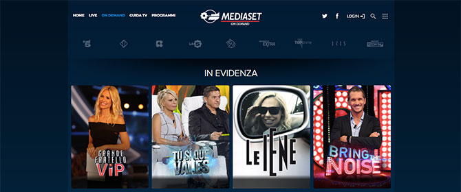 mediaset on demand app