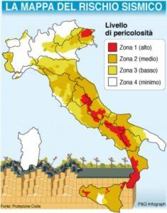 aree rischio sismico
